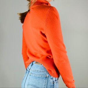 Anthropologie Sweaters - MOTH Orange Cotton Wool Button Turtleneck Sweater
